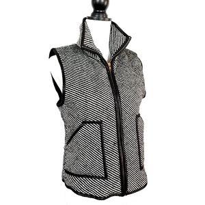 Peach Love California Tweed Zip Up Puffer Vest